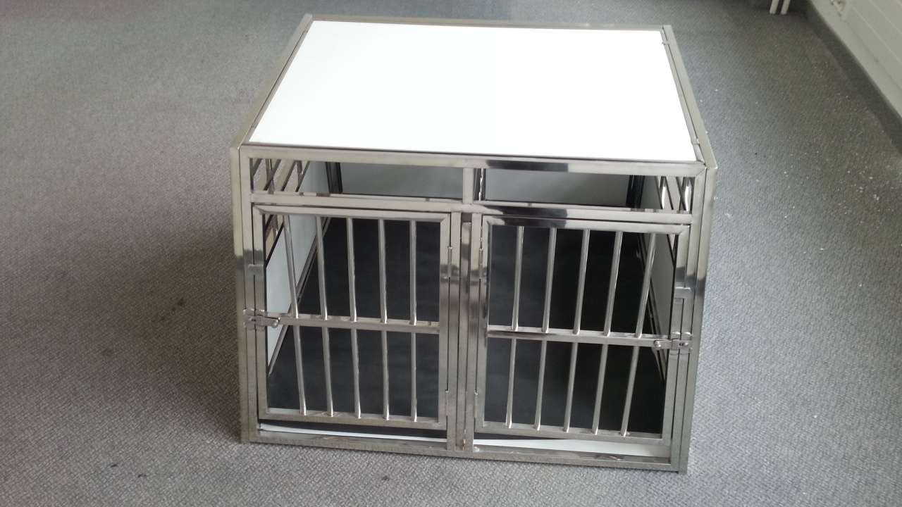 Sehr grosse Hunde-Doppelbox mit Separation